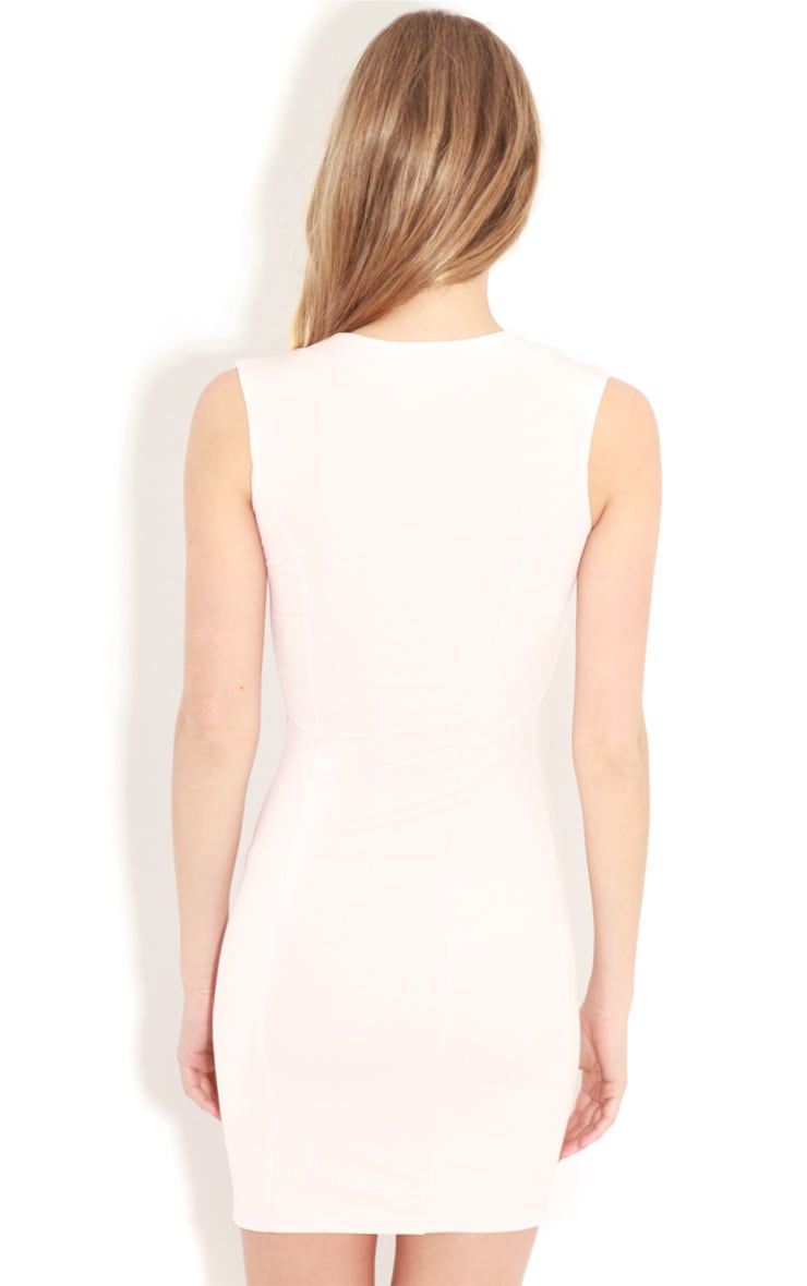 Henrietta Pale Pink Tailored Chiffon Dress 2