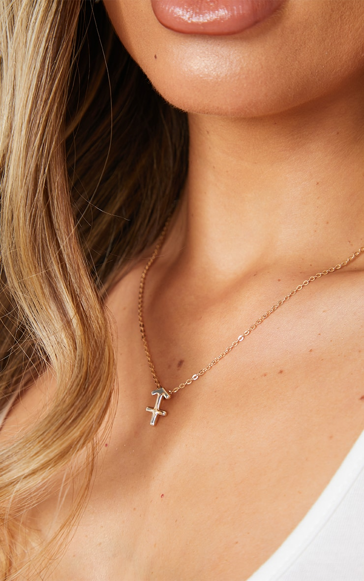 Gold Sagittarius Star Sign Necklace 2