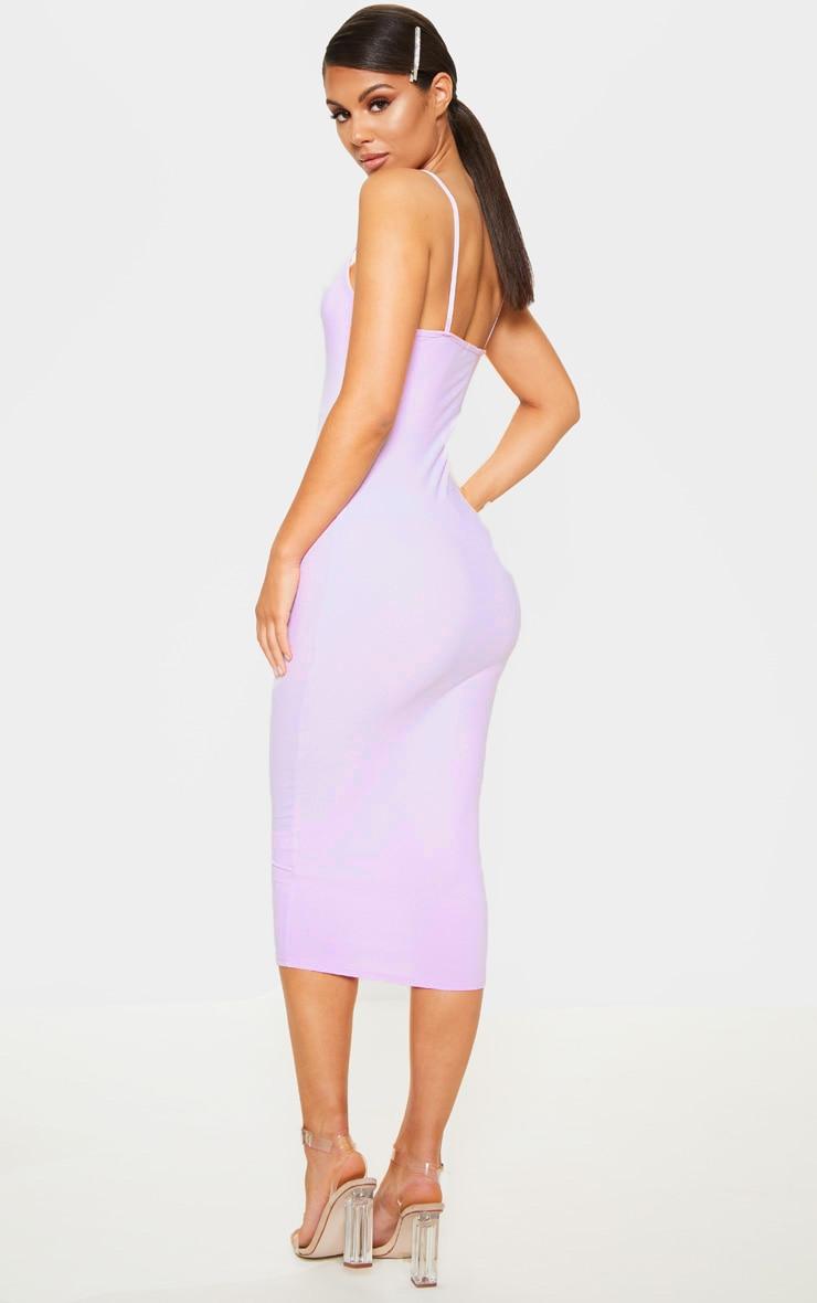 Lilac Strappy Midi Dress 2