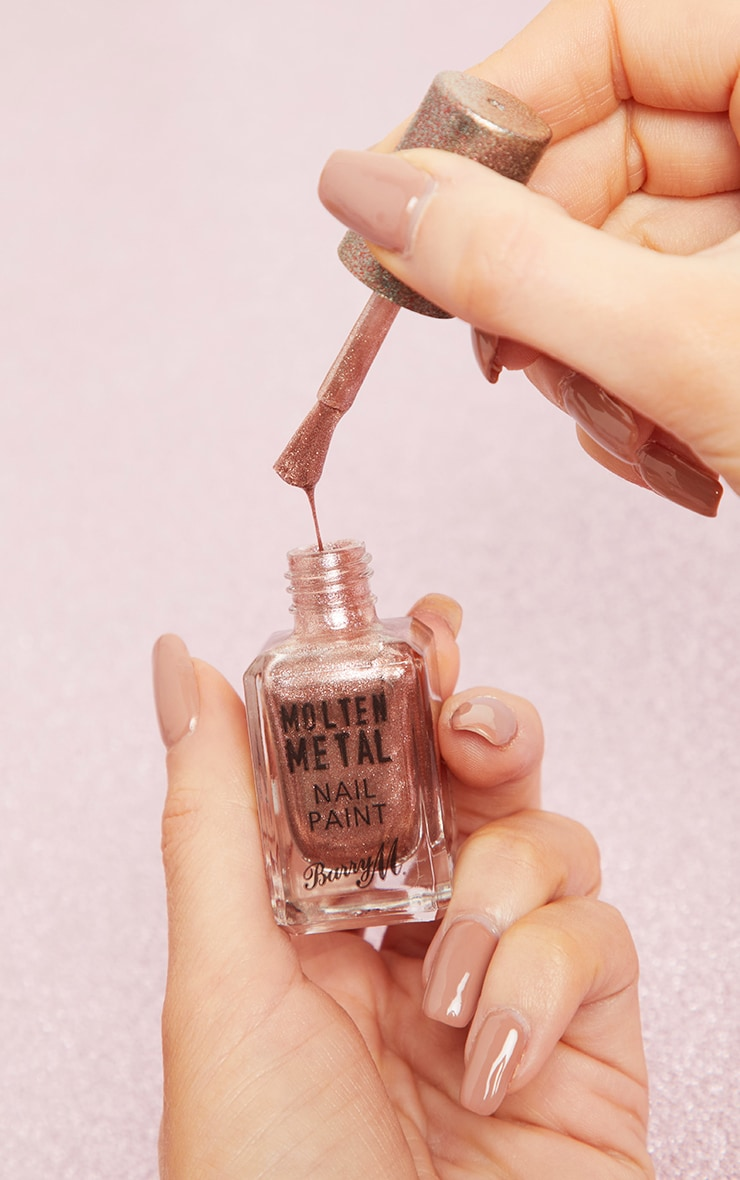 Barry M Molten Metal Pink Ice Nail Paint 2