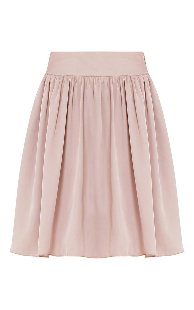 Ostara Stone Floaty Satin Mini Skirt 3