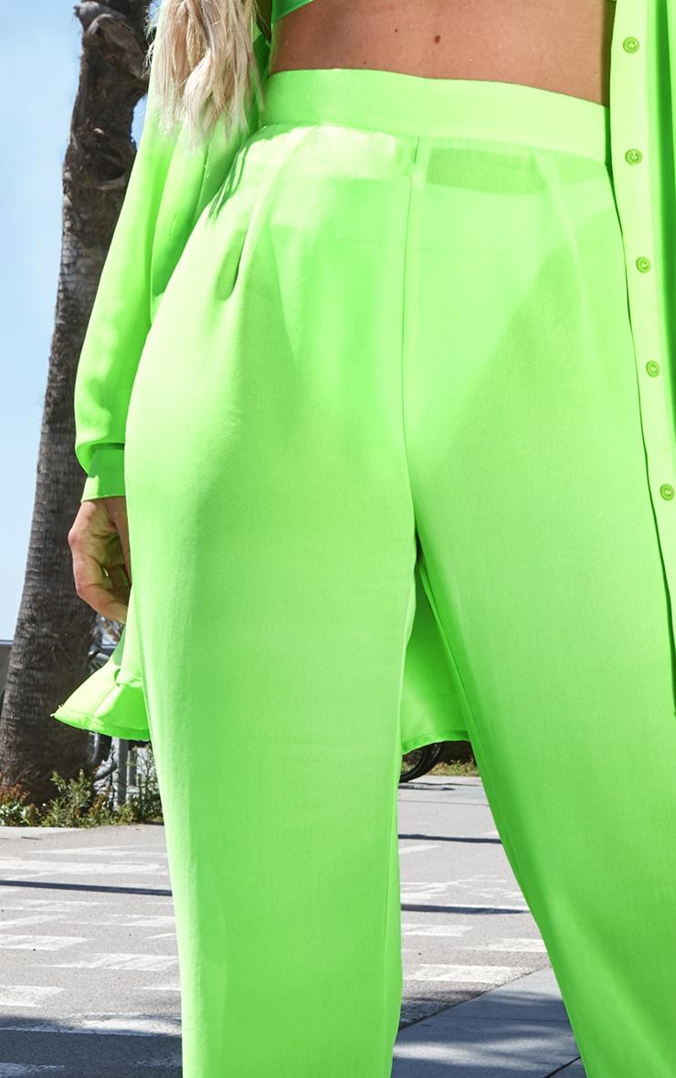 Neon Green Beach Flares 5