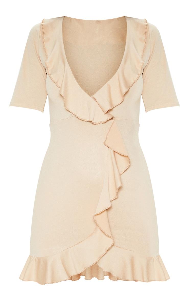 Stone Frill Detail Wrap Dress 3