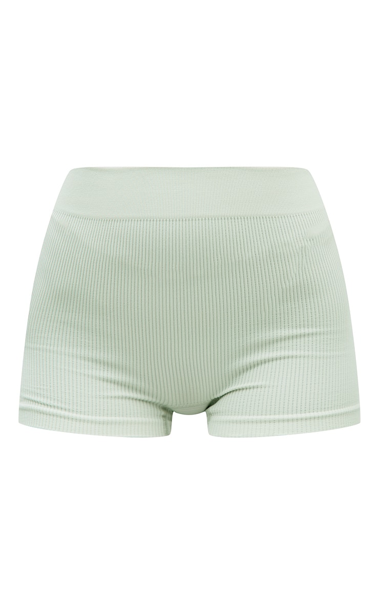 Mint Structured Contour Rib Hot Pants 6
