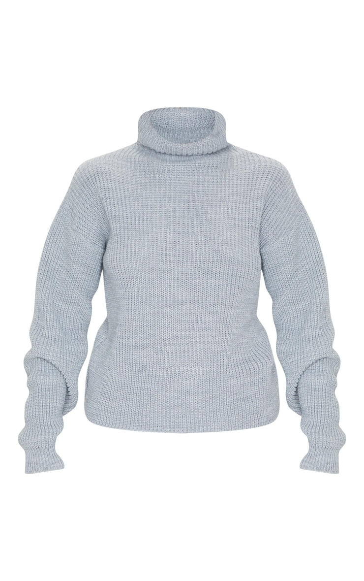 Grey High Neck Sweater 5