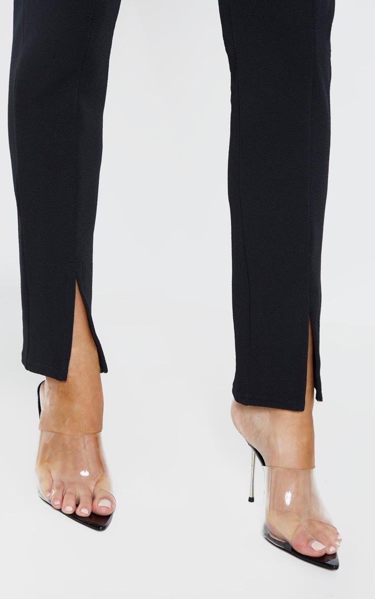 Tall Black   High Waisted Crepe Split Hem Pants  5