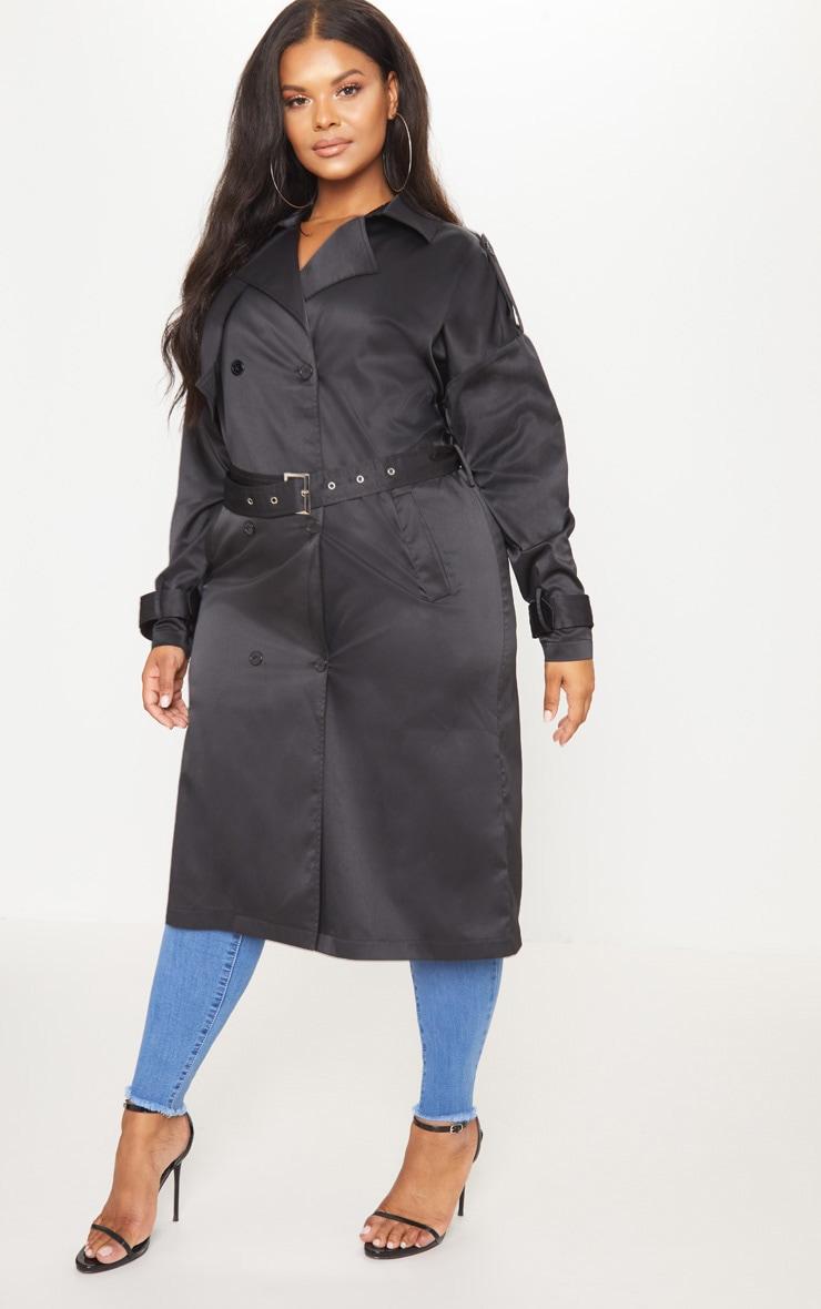 Plus Black Trench Coat 4