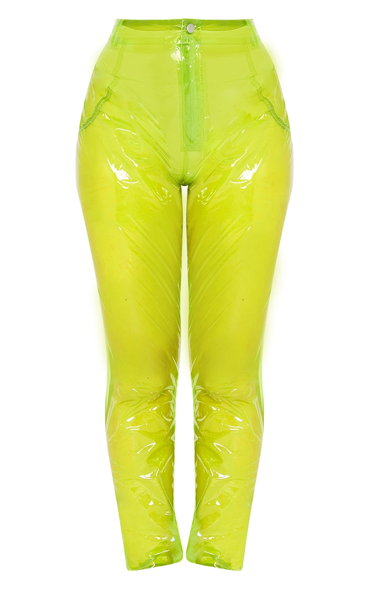 Lime Transparent Straight Leg Trouser 3