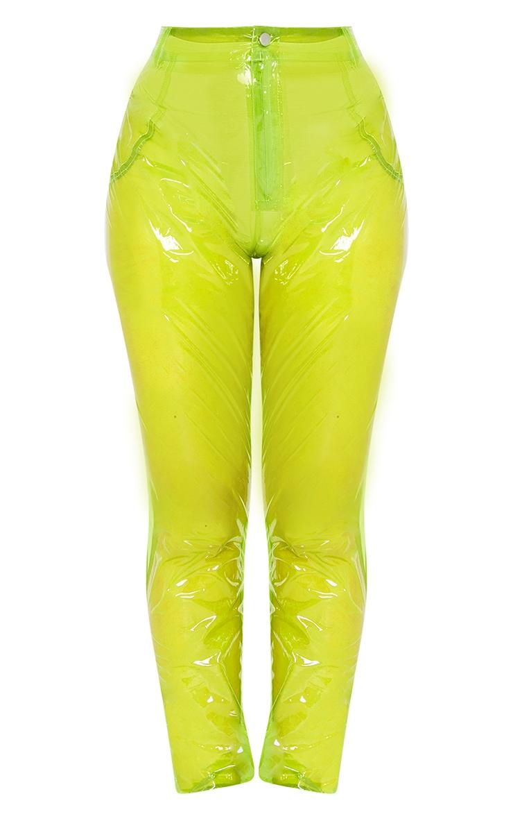 Lime Transparent Straight Leg Pants 3