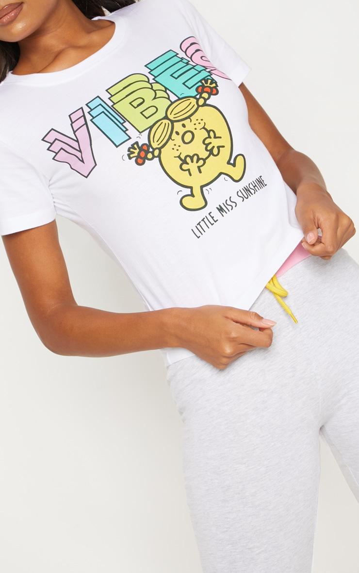 White Little Miss Sunshine Good Vibes Legging PJ Set  5