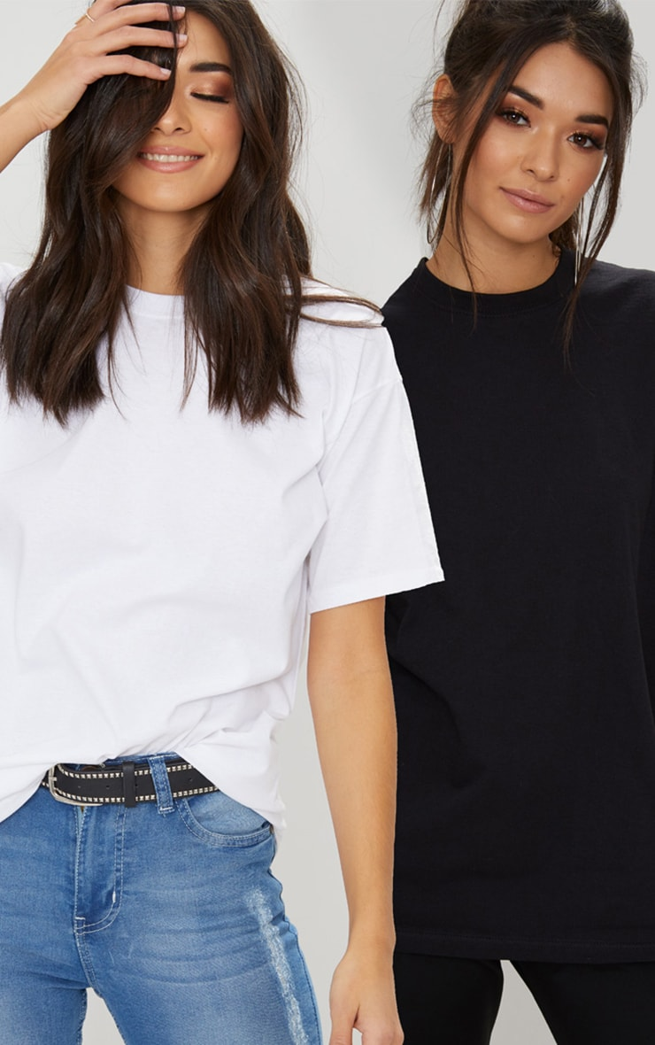 BLACK & WHITE 2 PACK ULTIMATE OVERSIZED T SHIRT