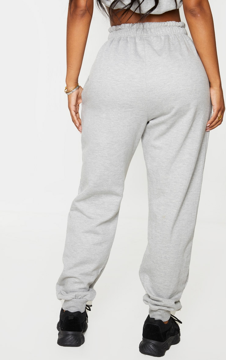 PRETTYLITTLETHING Shape Grey Embroidered Joggers 3