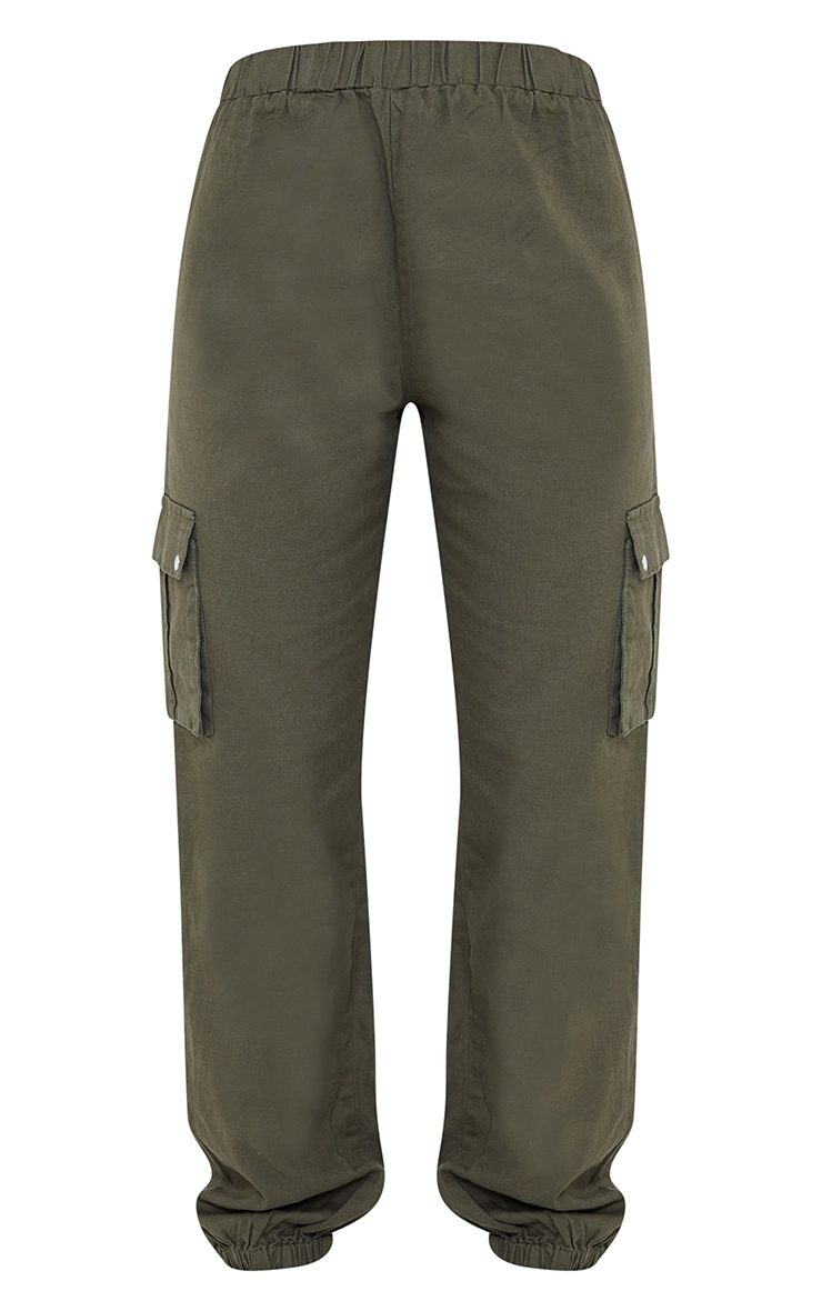 Khaki Pocket Detail Cargo Pants 5