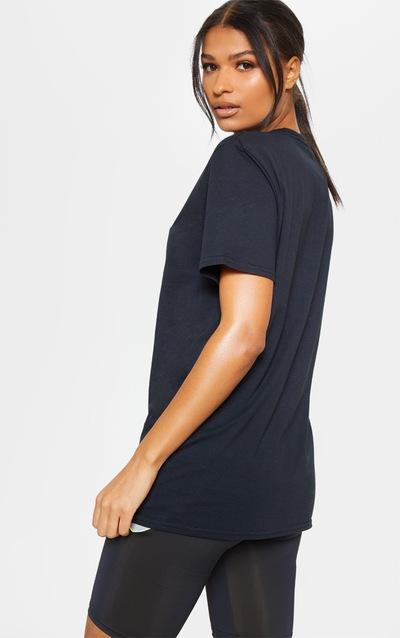 PRETTYLITTLETHING Black Gym T-Shirt