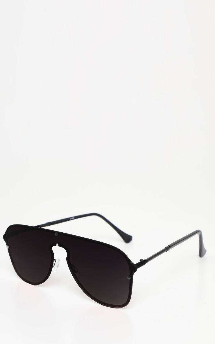 Black Oversized Aviator Sunglasses 2