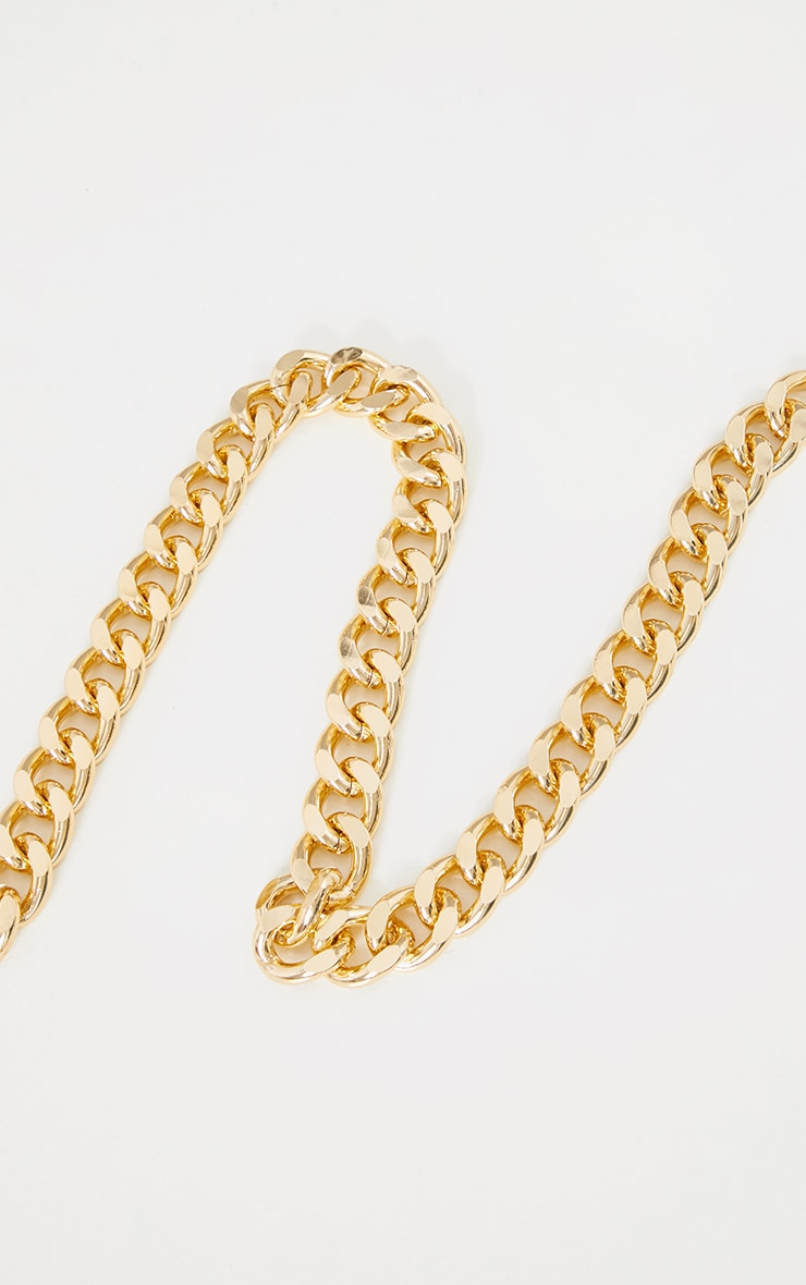 Gold Chunky Thick Chain Belt 2