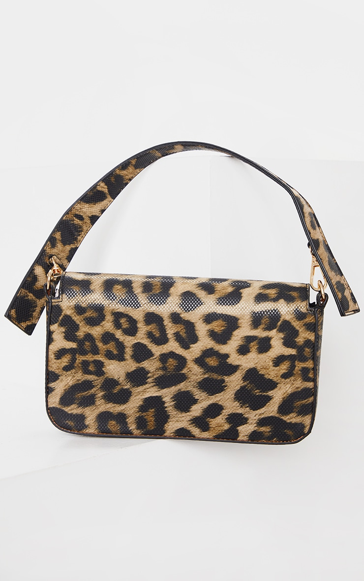 Brown Leopard Cross Body Bag 3