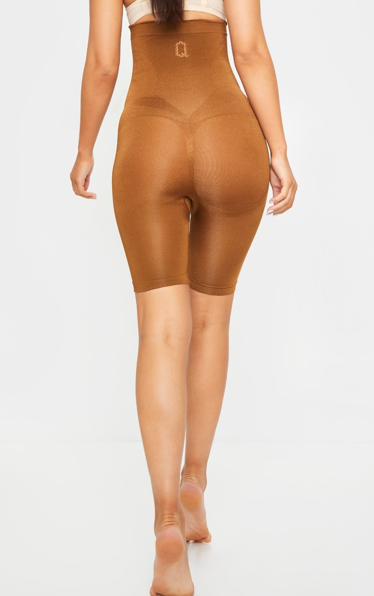 Brown Bum Lift Shapewear High Waisted Short 4