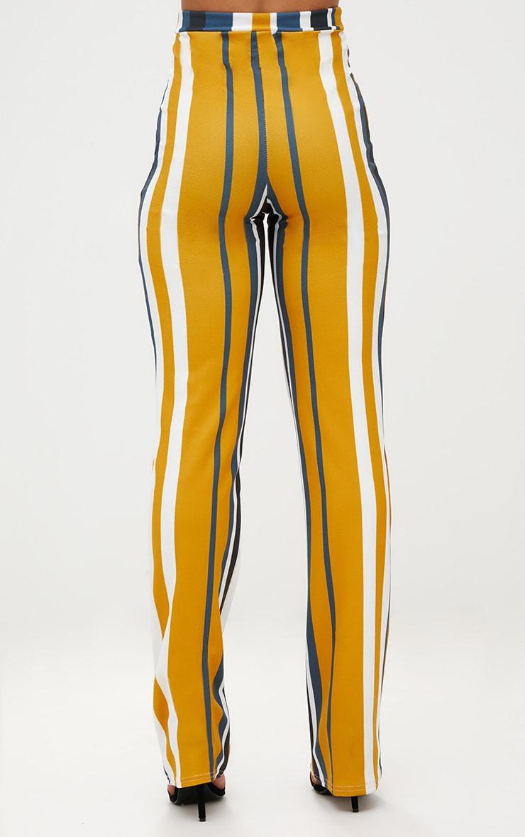 Mustard Staight Leg Striped Trouser  4