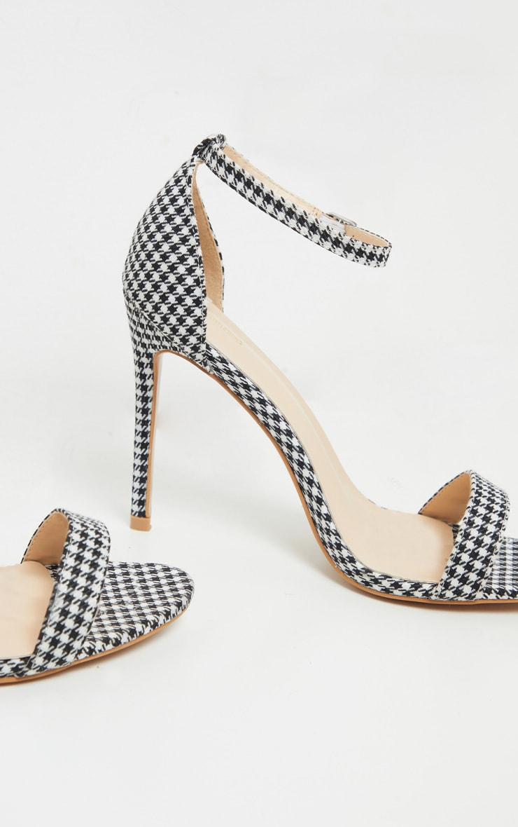 Sandales Clover à brides pied-de-poule 3