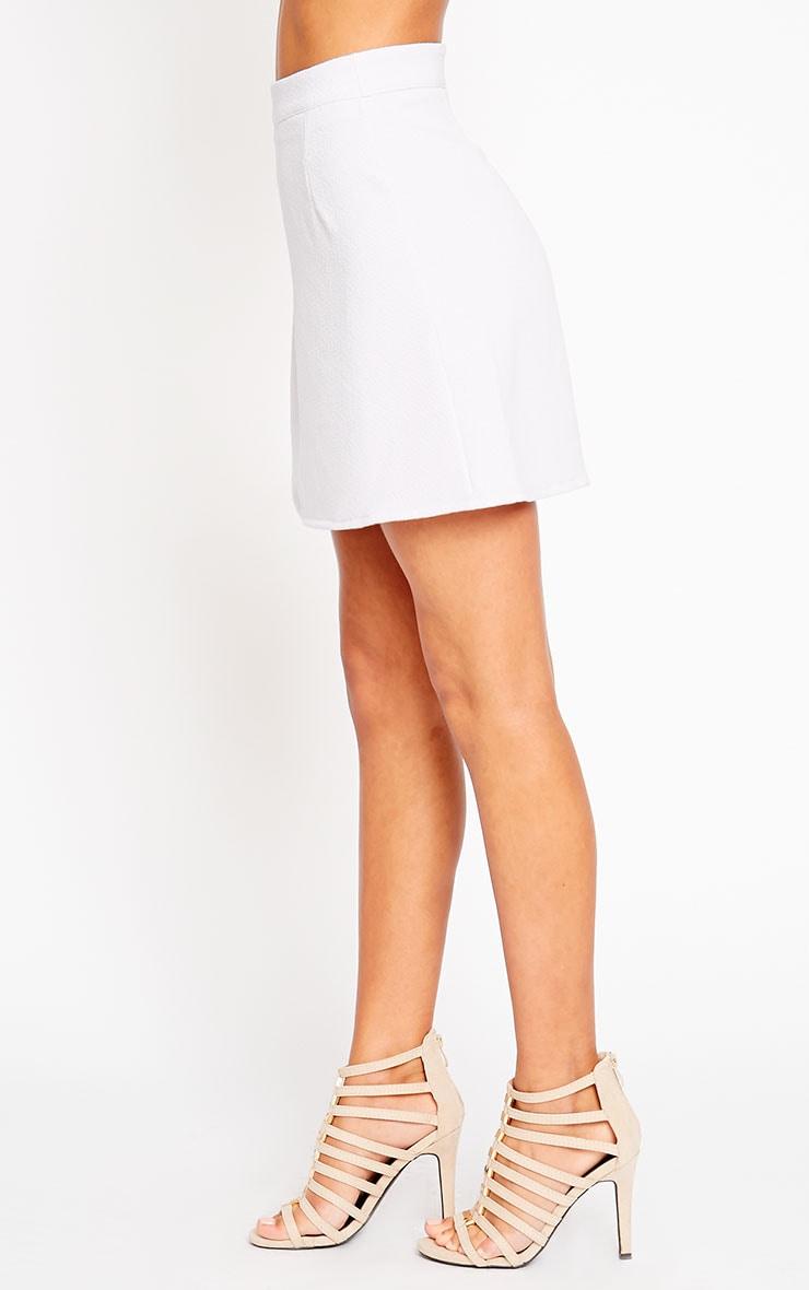 Rori Lilac Crepe A Line Mini Skirt 3