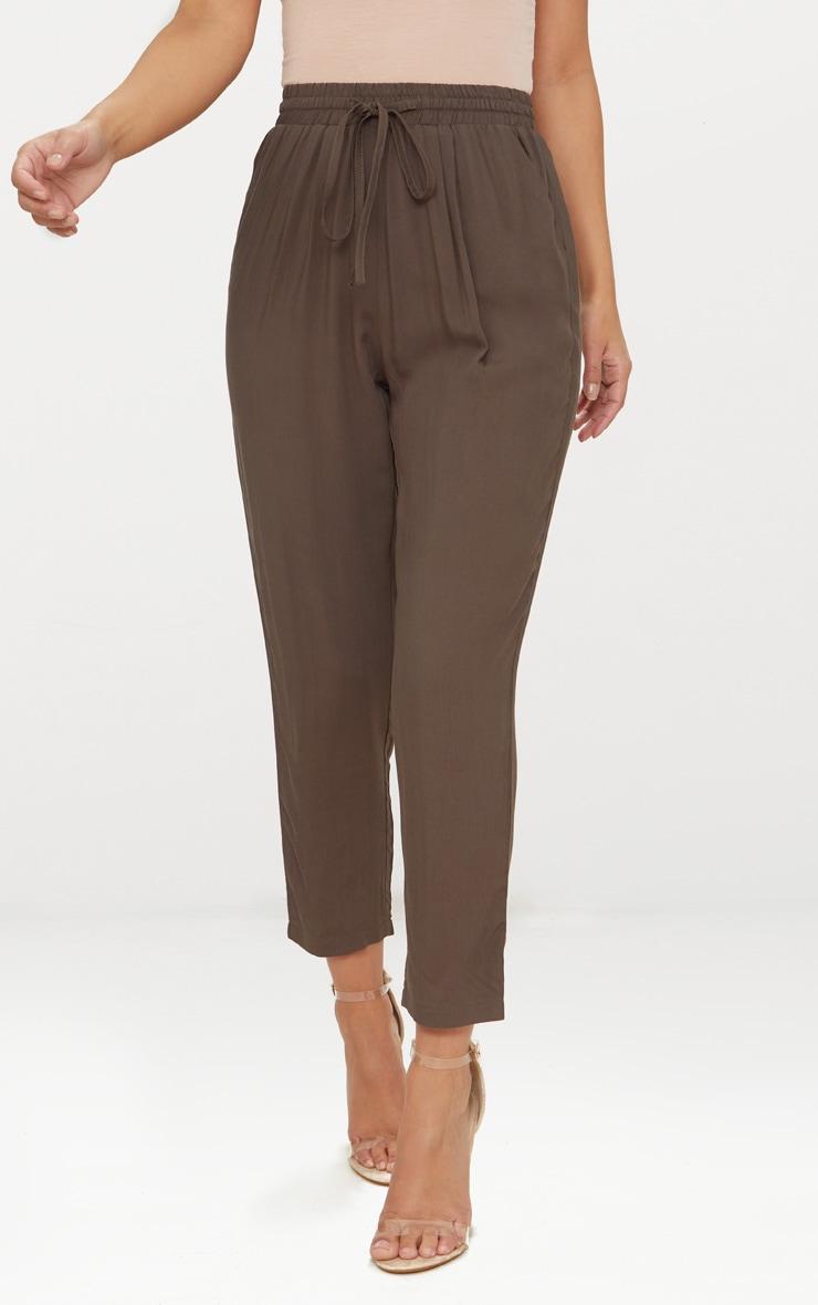 Petite Khaki Casual Pants  2