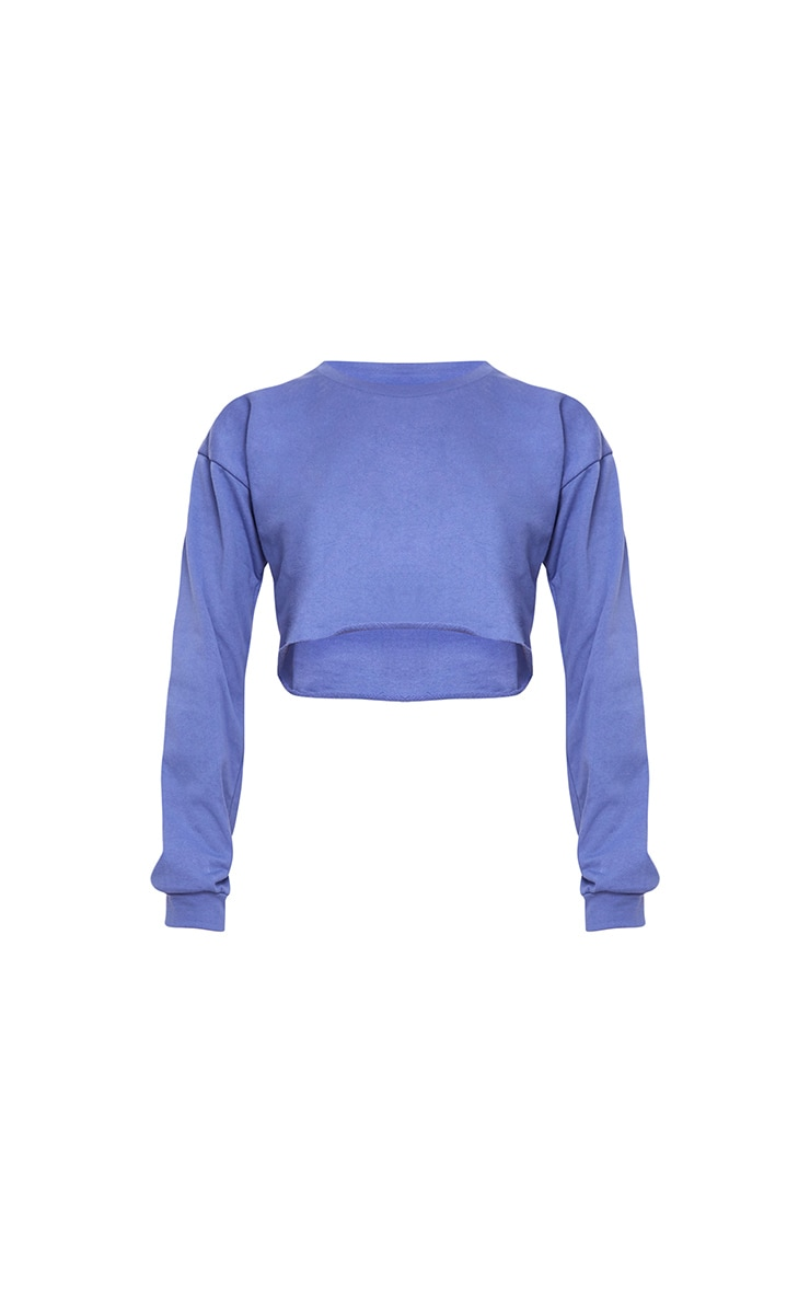 Beau Blue Cut Off Crop Longsleeve Sweater 3
