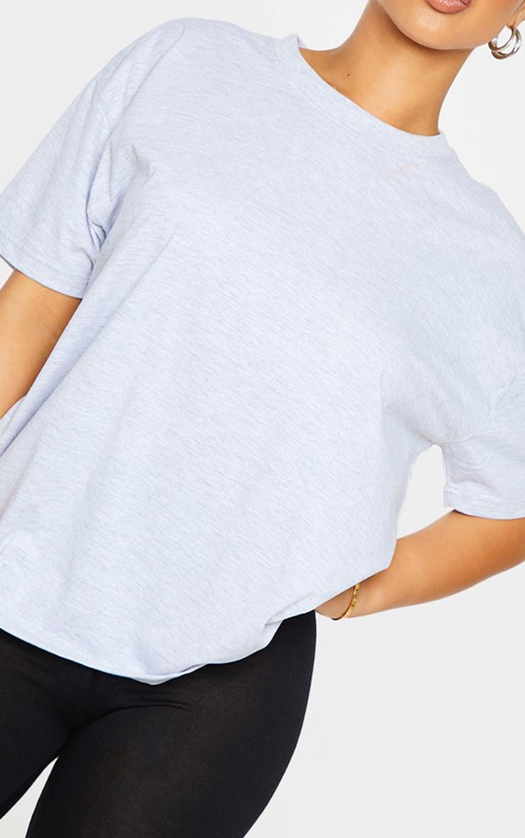 Petite Grey Oversized Boyfriend T Shirt 4