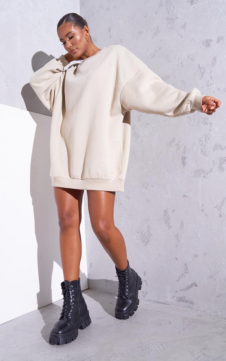 RENEW Beige Oversized Jumper Dress 3