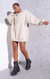 RENEW Beige Oversized Sweater Dress 3