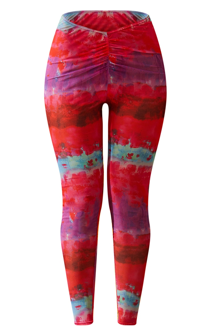 Multi Printed Ruched Front Leggings 6