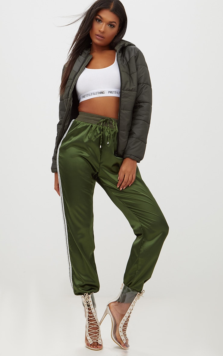 Khaki Hooded Puffer Jacket 4