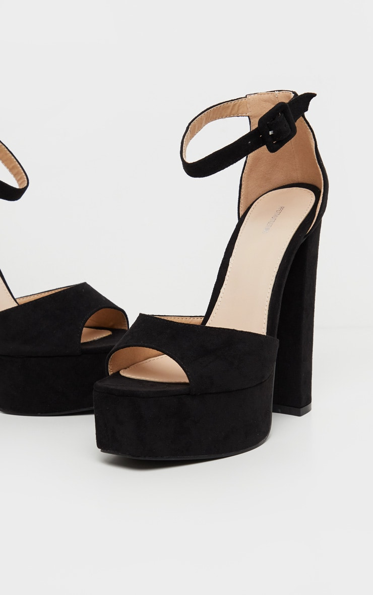 Black Platform High Sandal 4