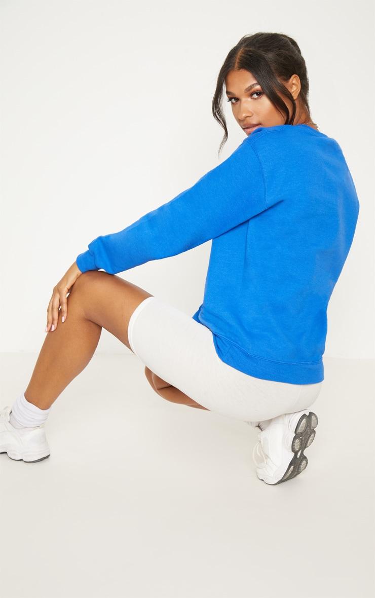 Sweat oversize bleu flashy classique 2