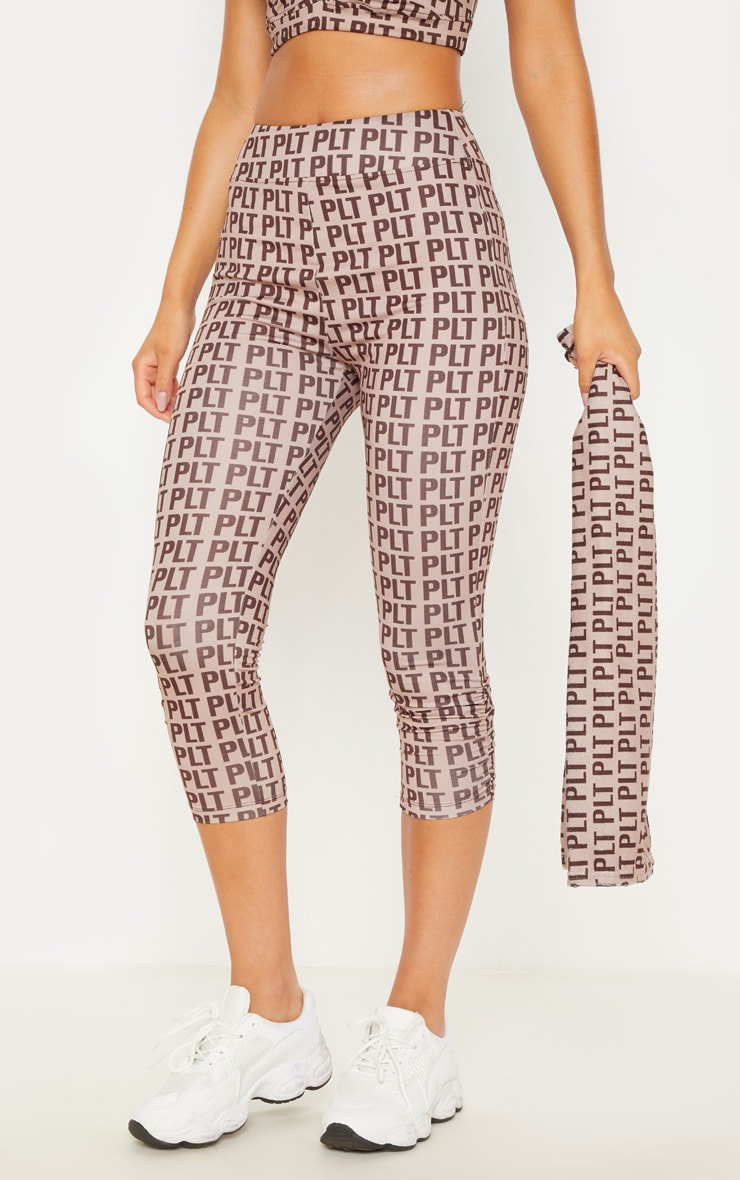 PLT Stone Ruched Detail Cropped Leggings 3