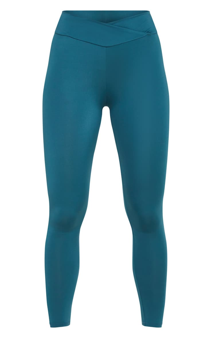 Emerald Green Mid Rise Gym Leggings 3