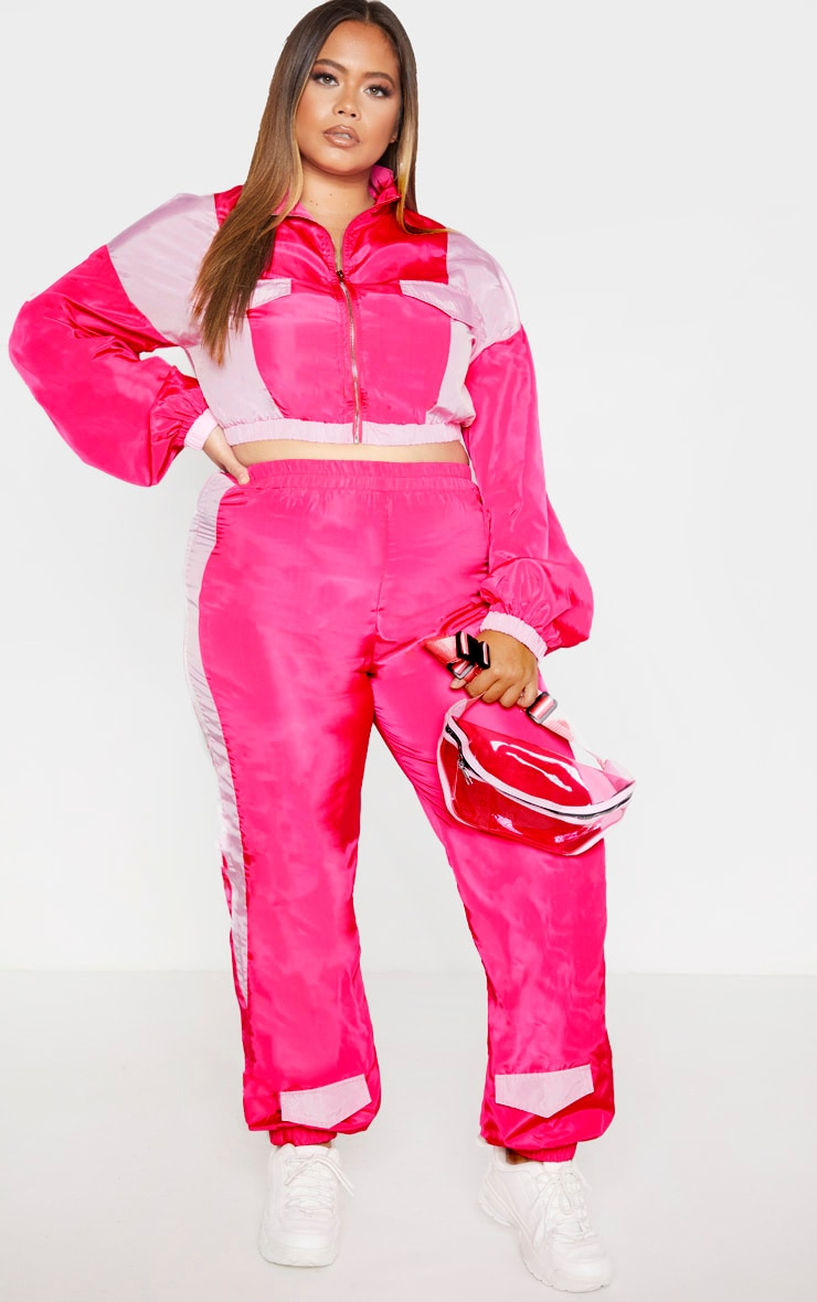 Plus Pink Zip Detail High Neck Shell Jacket 4