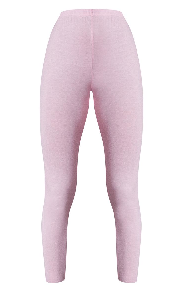 Baby Pink Basic Leggings 5