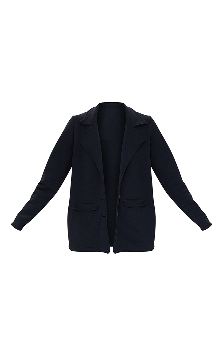 Black Oversized Sweat Blazer 5