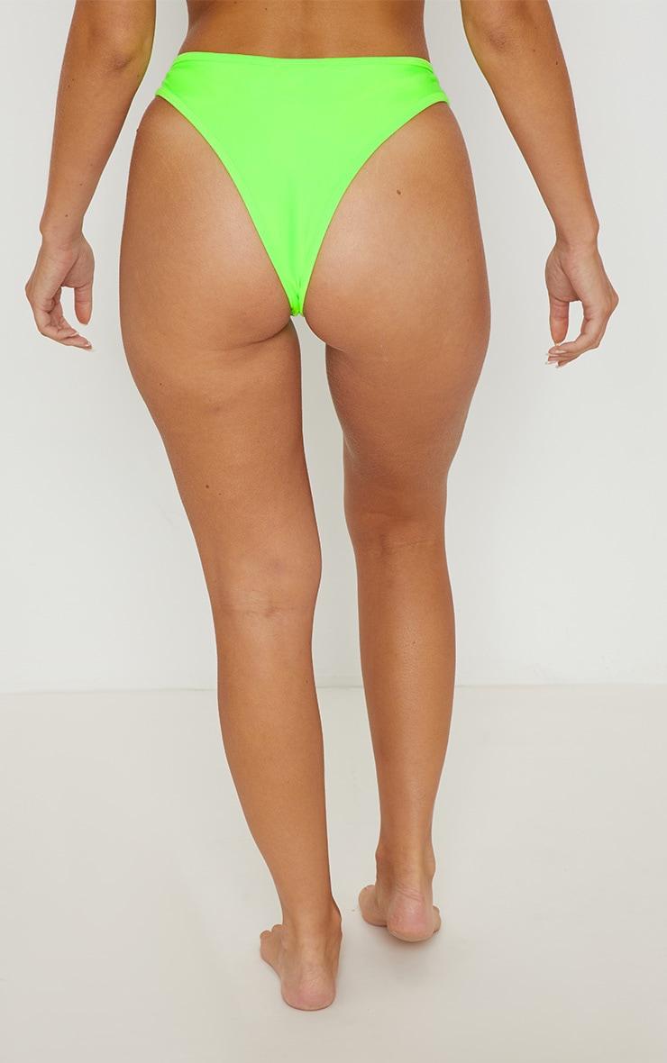 Lime Mix & Match V Front Brazilian Bikini Bottom 4
