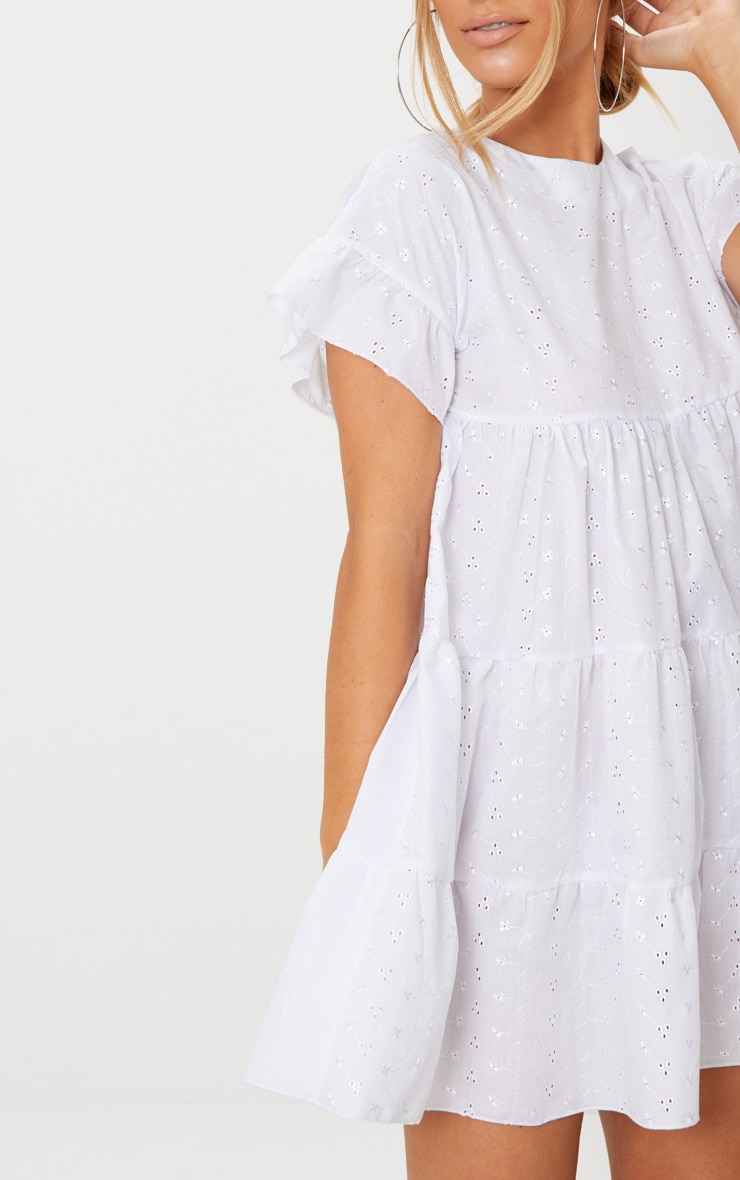 White Broderie Anglaise Smock Dress 5