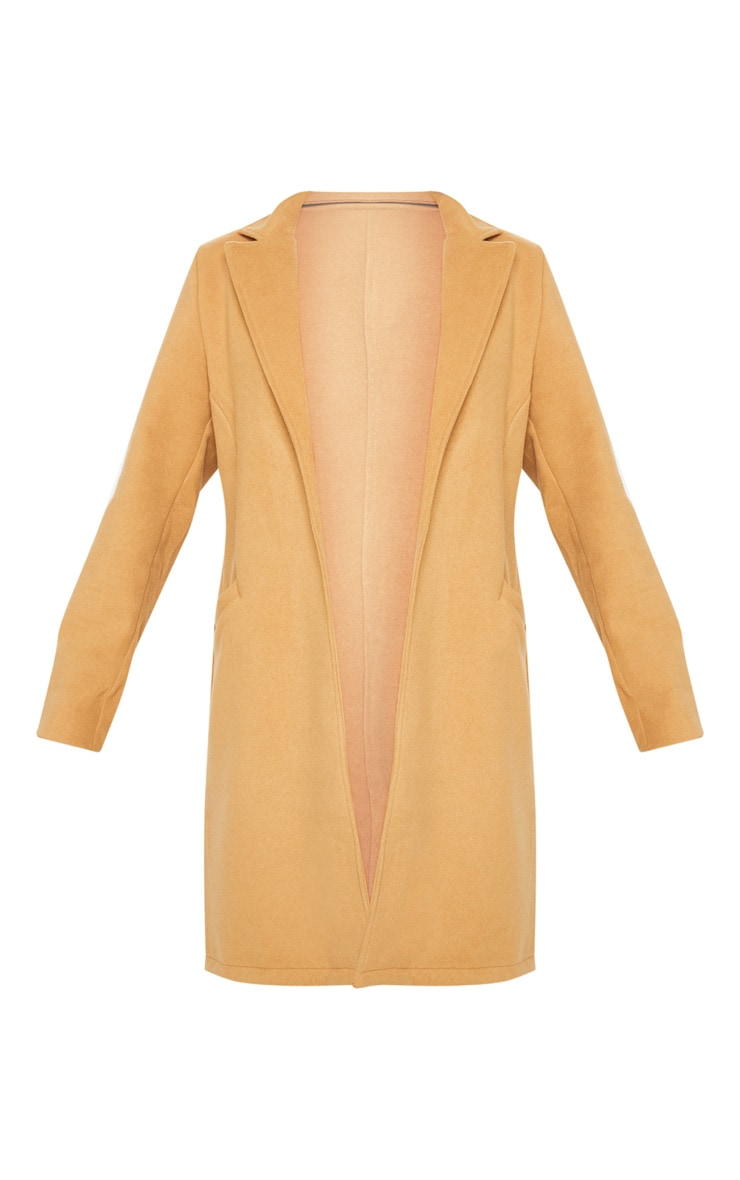 Camel Pocket Front Coat  3