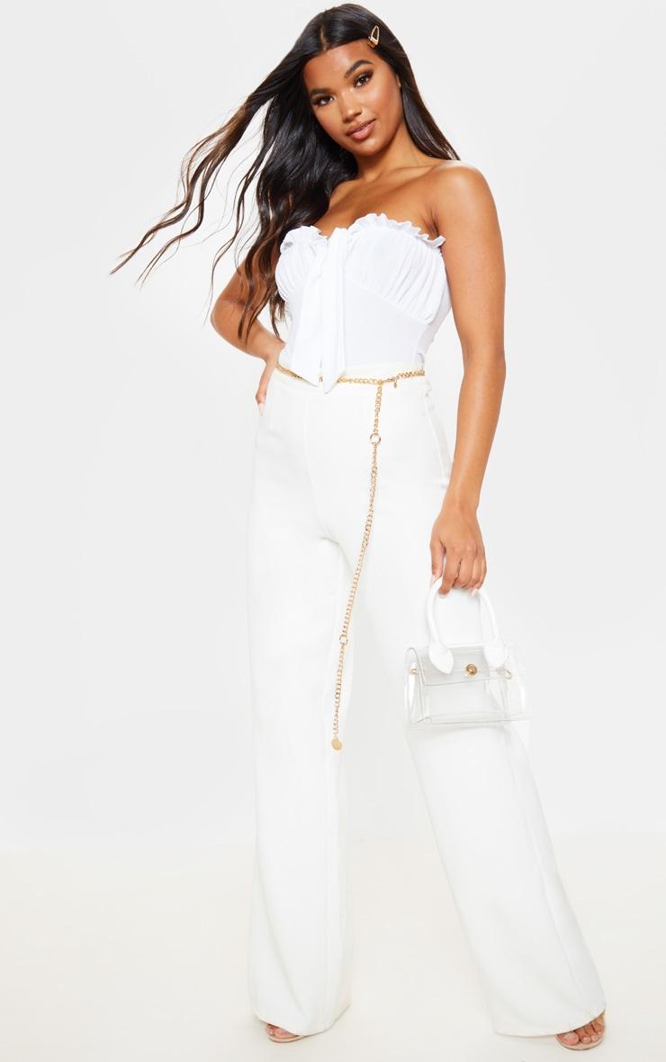 White Bandeau Milkmaid Bodysuit 4