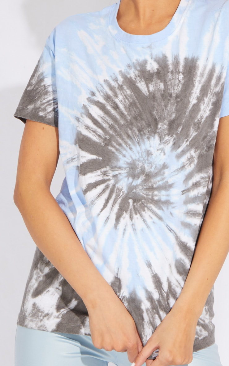 Petite Black Oversized Tie Dye T-Shirt 4