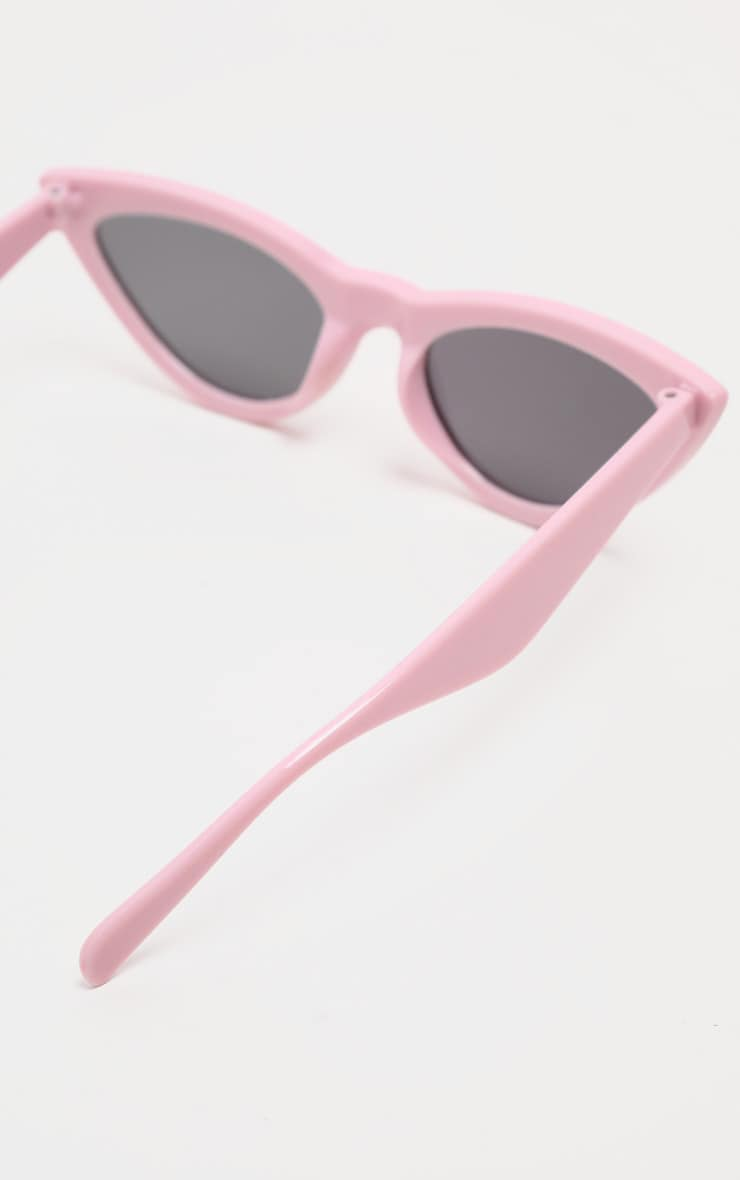 Pale Pink Retro Cat Eye Sunglasses 4