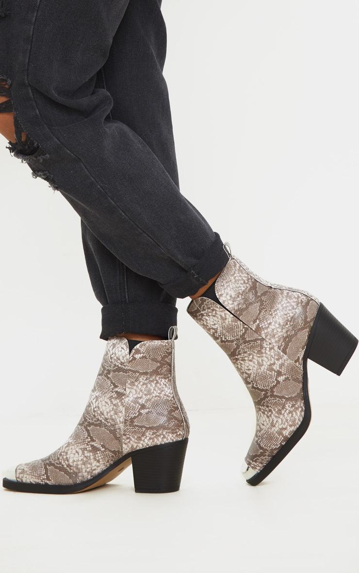 Snake Wide Fit Metal Toe Western Boot 1
