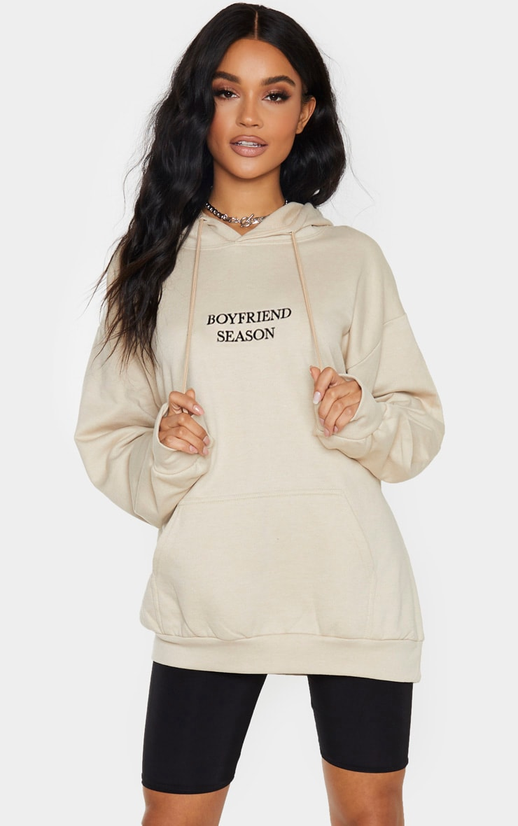 Sand Boyfriend Season Embroidered Hoodie 1