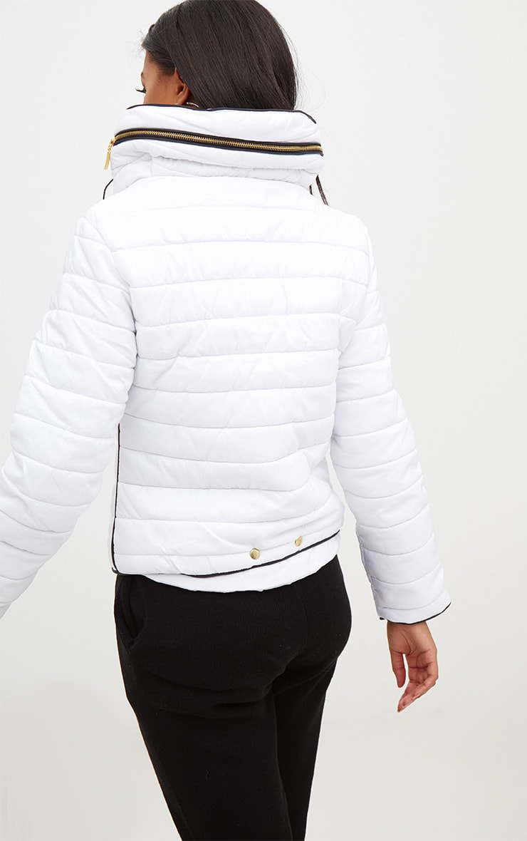Mara White Puffer Jacket 2