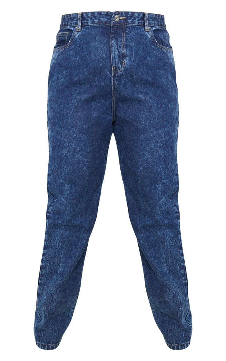 Plus Mid Acid Wash Mom Jean 4