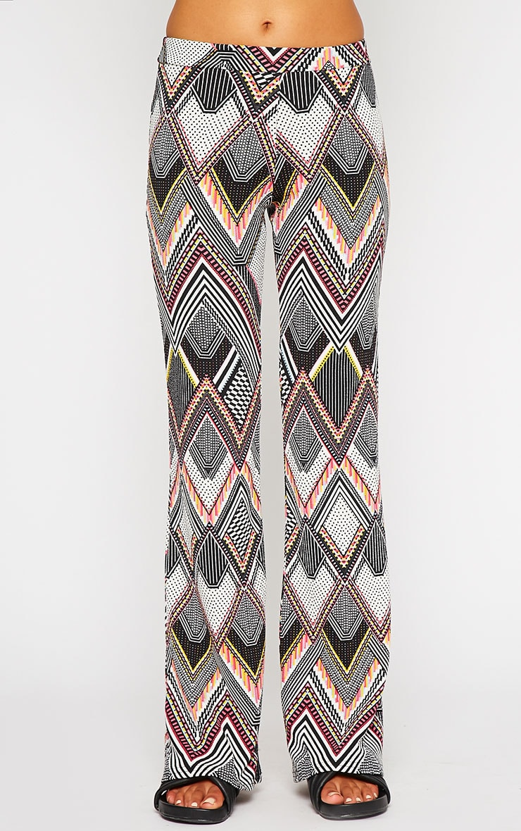 Val Aztec Print Flare Trousers 2